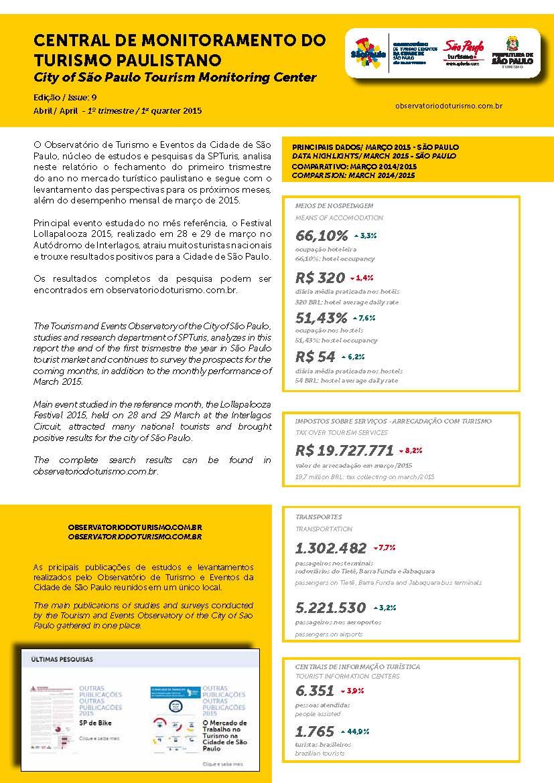 Relatório da Central de Monitoramento do Turismo na Cidade de São Paulo - Março/2015